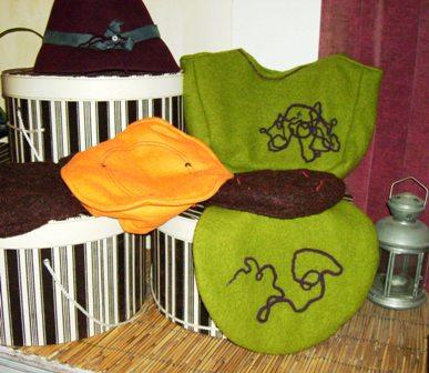 Chapeau feutre, bérets divers et sac assorti - PO 2010