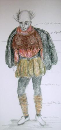 Bouffon (maquette - croquis)