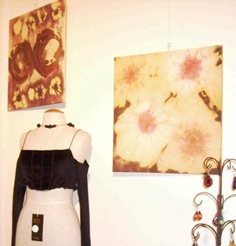 Peinure textile (tableaux) - Marché de Noël