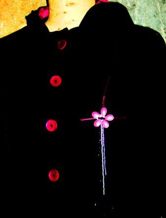 Veste Dragonia + broche et fleur