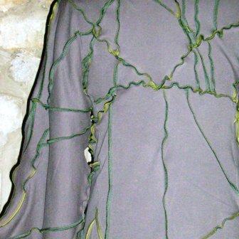 Gilet long Lichenis - détail dos
