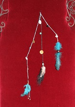 Headband - bijou pour cheveux (bleu turquoise et noir)