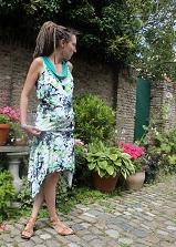 robe Paquerette imprimé fleurs - col vert (Zeelande)